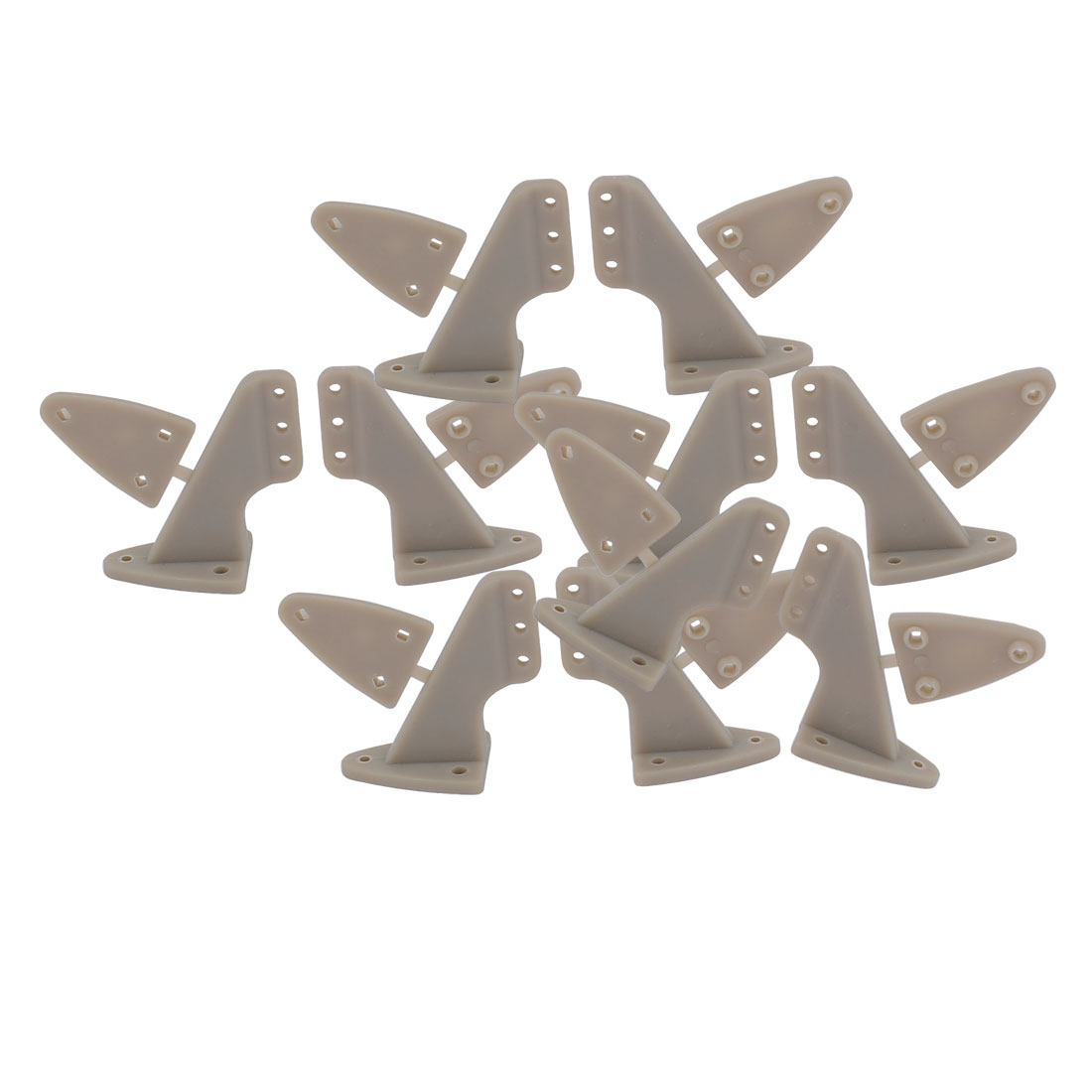 10pcs RC Remote Control Airplane Spare Parts 20.0x28.5mm Triangle Rudder Angle Grey