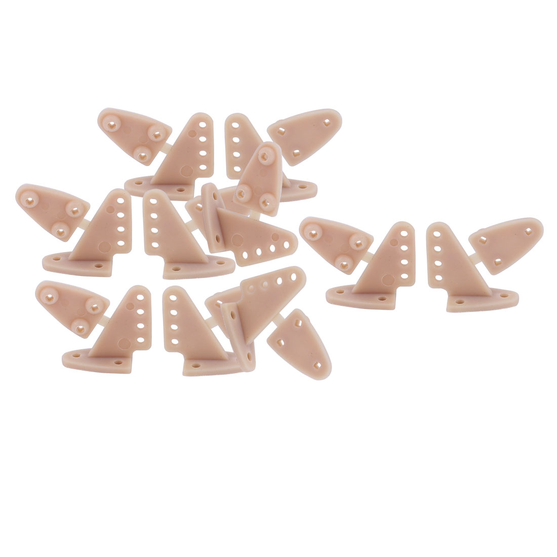 10pcs RC Remote Control Airplane Spare Parts 16.5x20.0mm Triangle Rudder Angle Grey