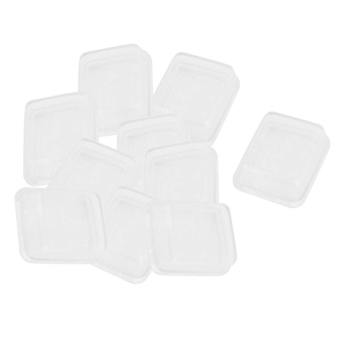 10 Pcs White Clear Silicone Waterproof Rocker Switch Protect Cover Rectangle Cap