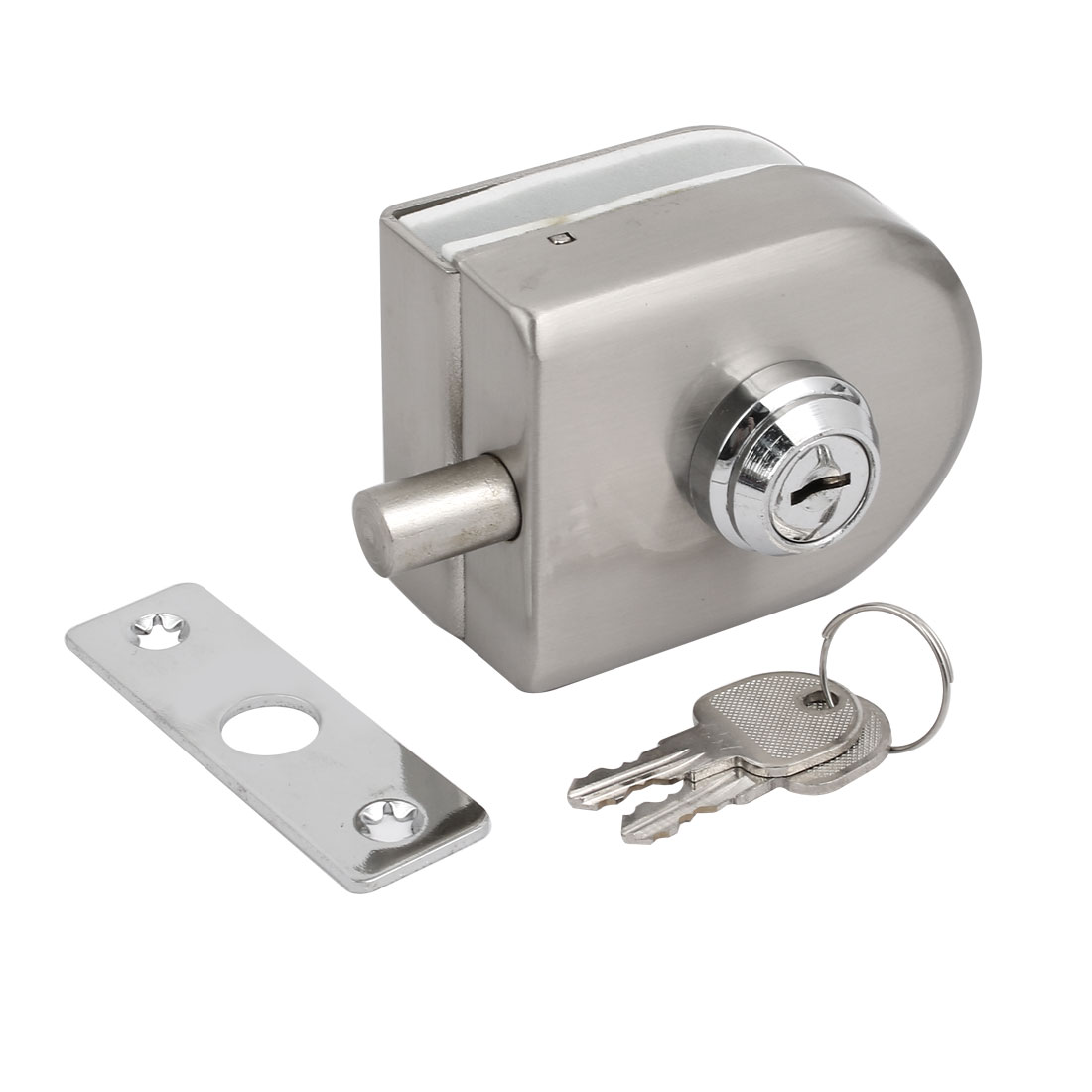 10mm-12mm Glass Thickness Stainless Steel Oval Shape Door Lock Set