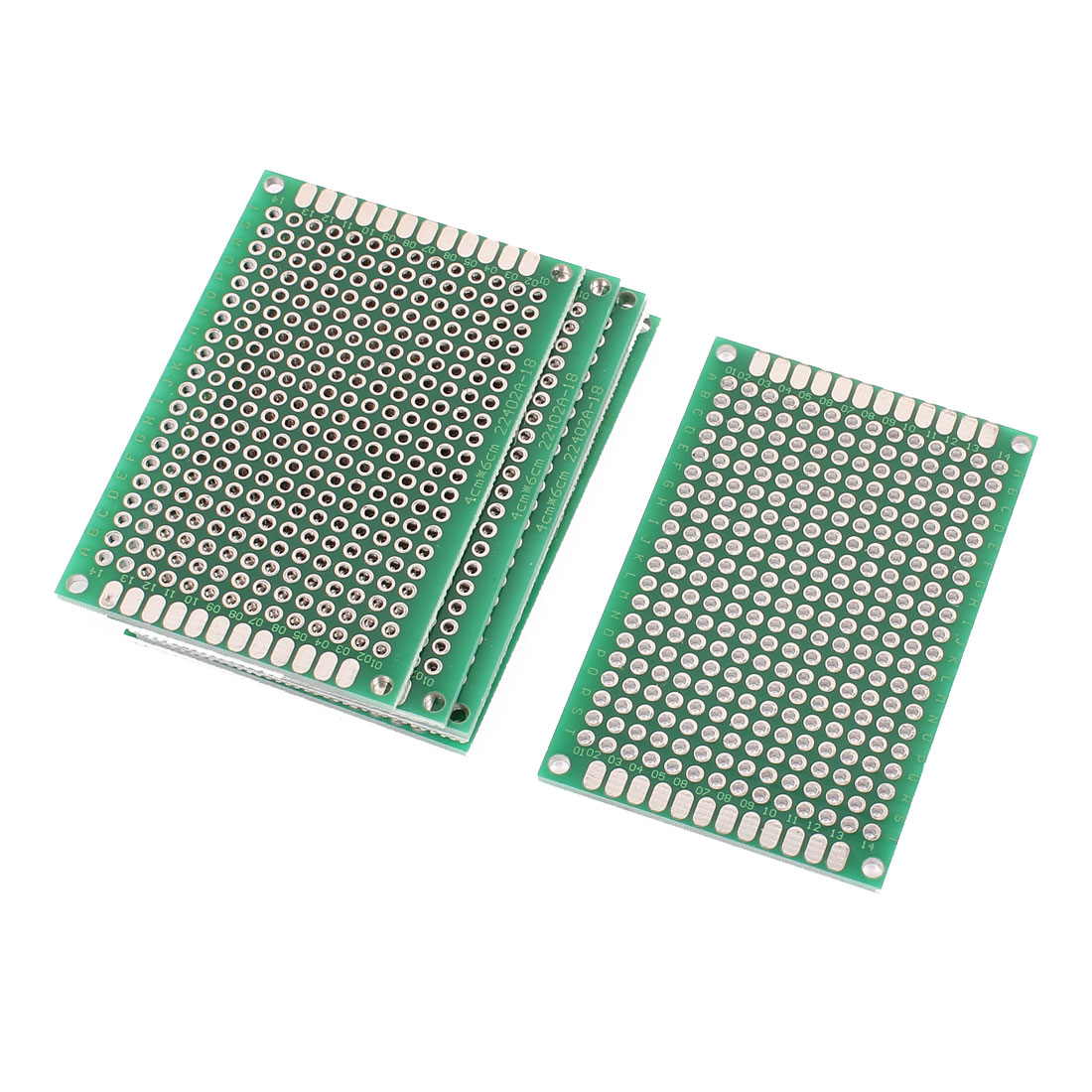 7 Pcs Single Sided Prototype Universal PCB Print Circuit Board 4 x 6CM Green