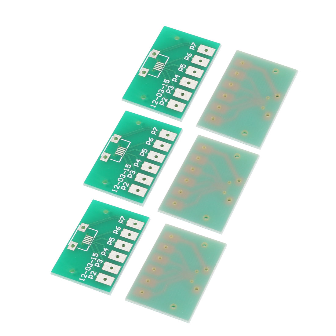 6Pcs Micro USB Mike 5P Printed Circuit Adapter Plate PCB Board 20mmx30mm Green