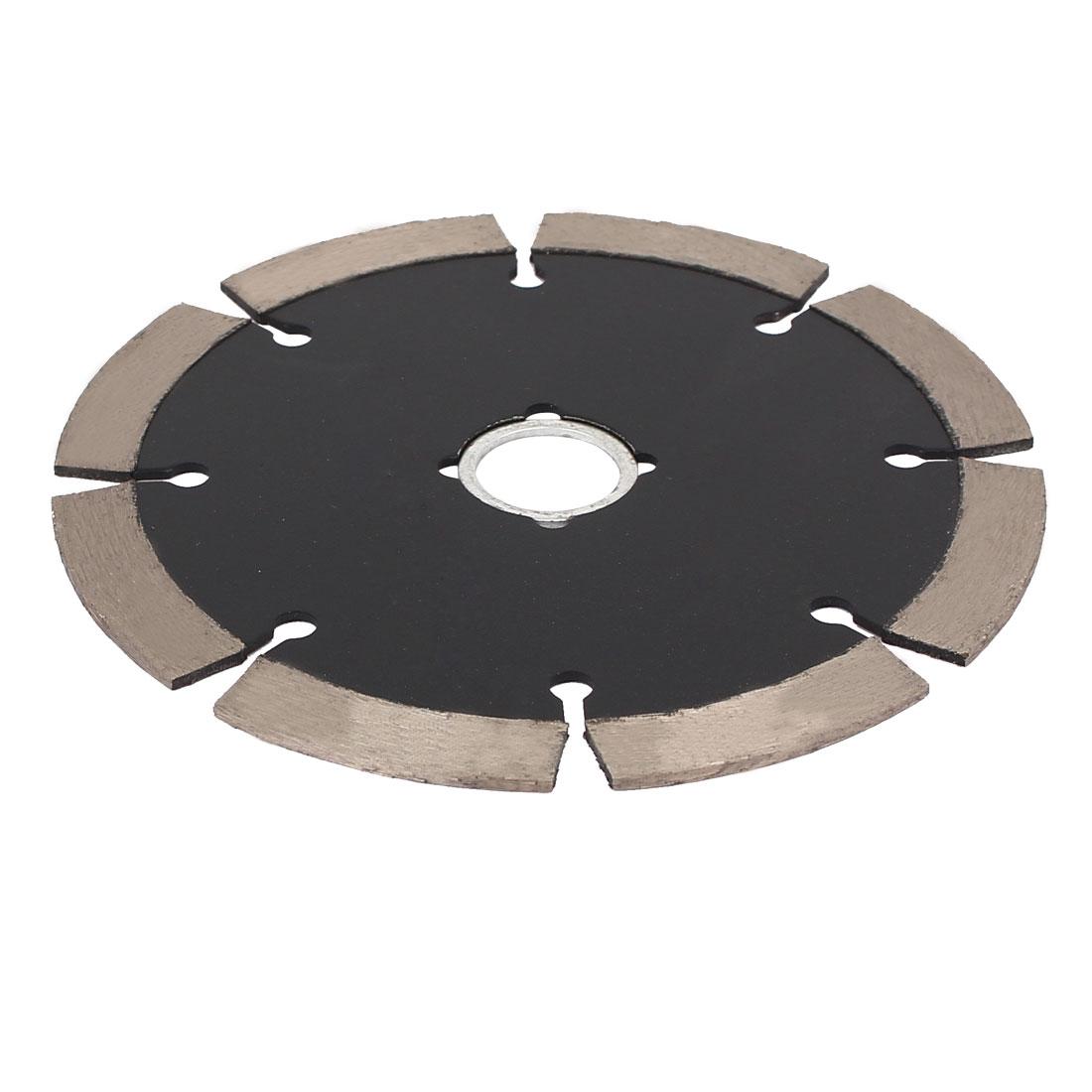 108mm Diameter 15300RPM Dry or Wet Cutting Segmented Diamond Saw Blade Black