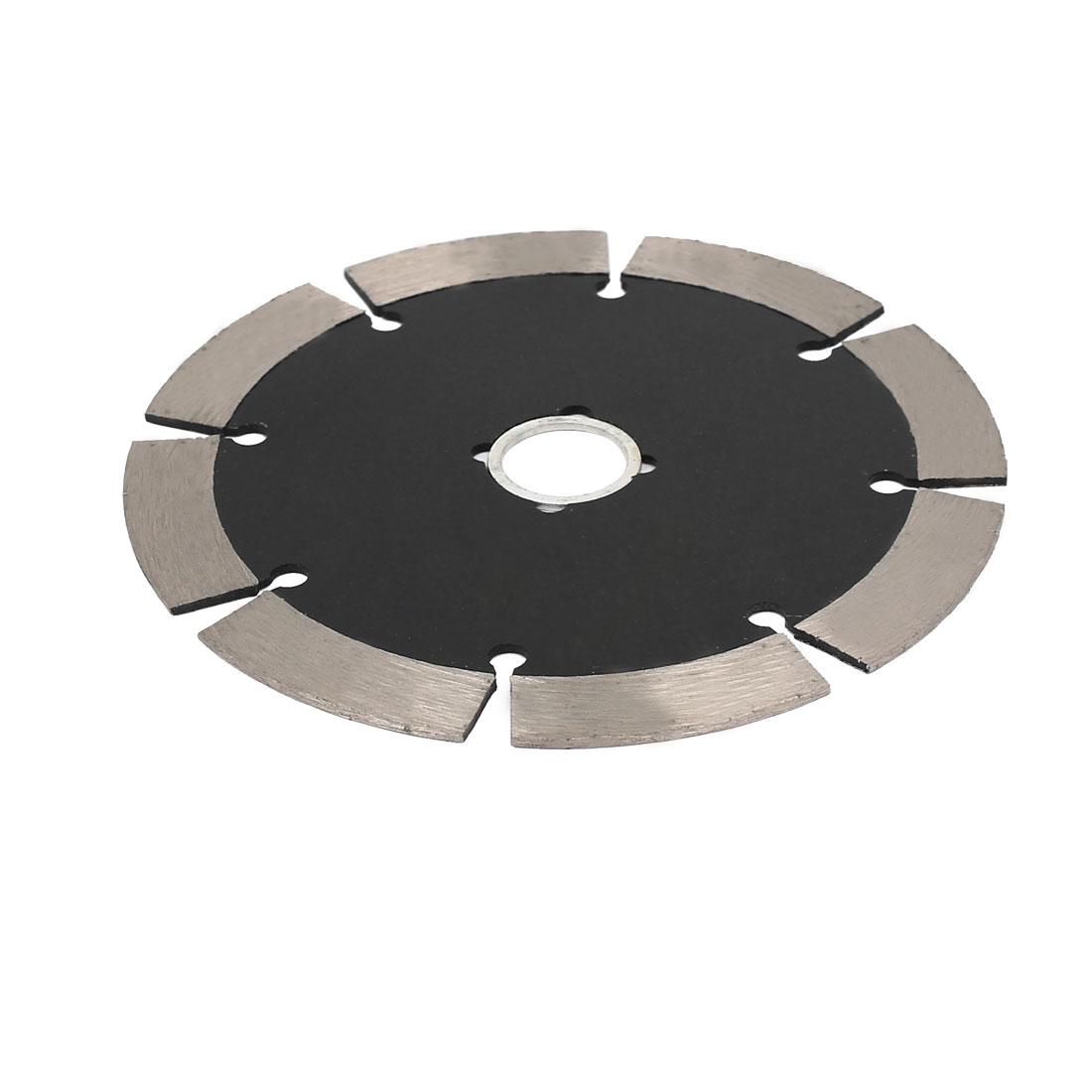 114mm Dia 1.8mm Thickness Dry or Wet Cutting Segmented Diamond Saw Blade Black