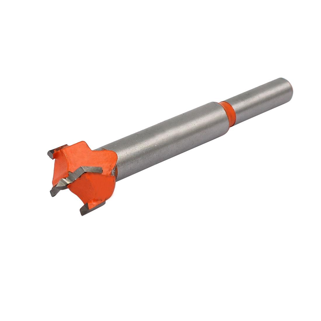 19mm Dia Carbide Tip Wood Drilling Cutting Hinge Boring Bit Drill Tool Orange