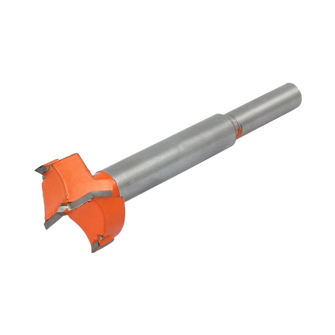 25mm Dia Carbide Tip Wood Drilling Cutting Hinge Boring Bit Drill Tool Orange