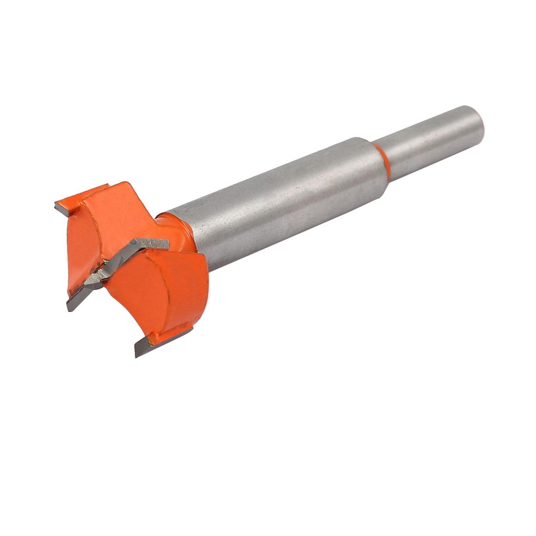 28mm Dia Carbide Tip Wood Drilling Cutting Hinge Boring Bit Drill Tool Orange