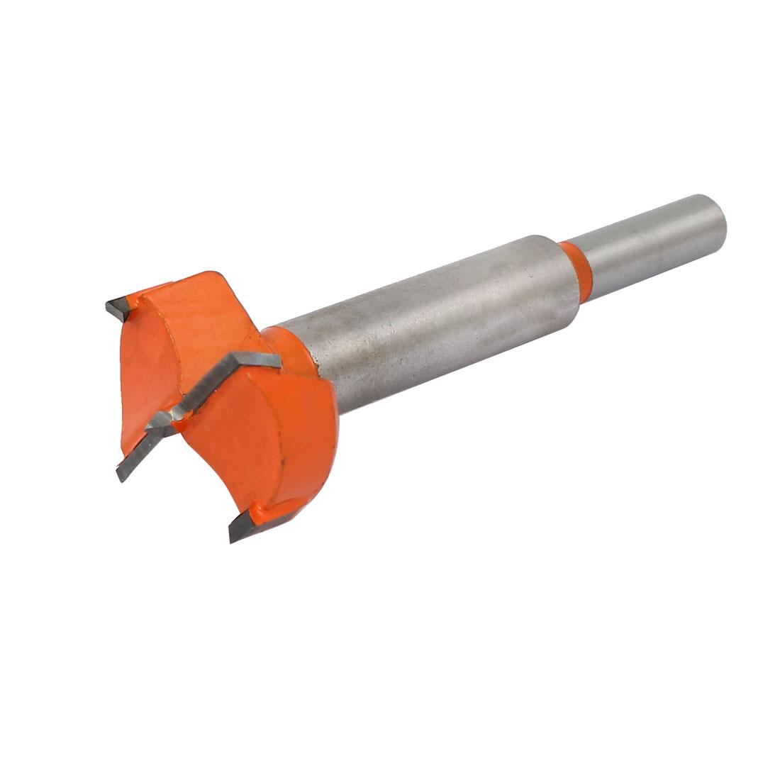 30mm Dia Carbide Tip Wood Drilling Cutting Hinge Boring Bit Drill Tool Orange