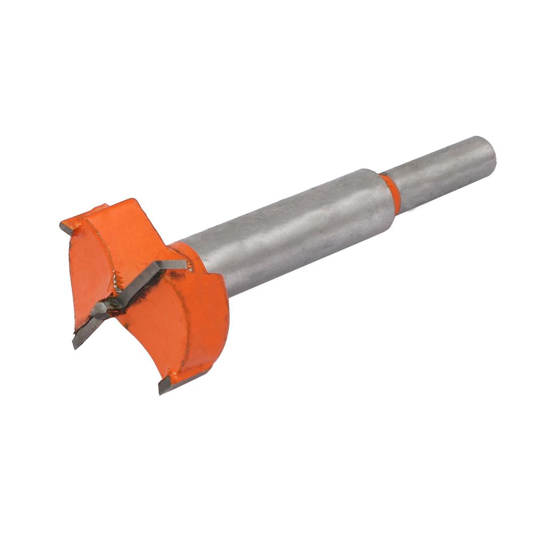 32mm Dia Carbide Tip Wood Drilling Cutting Hinge Boring Bit Drill Tool Orange