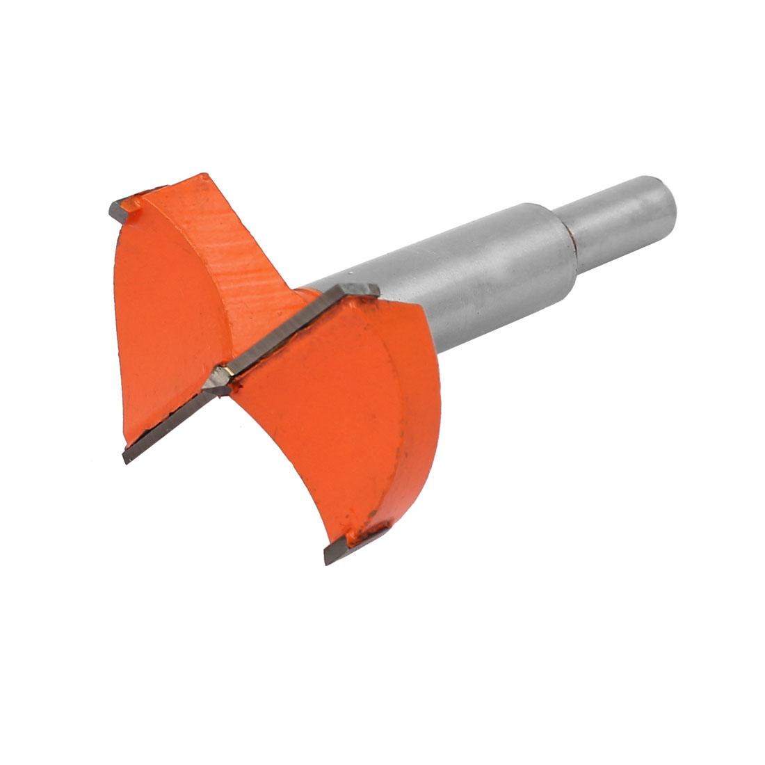 53mm Dia Carbide Tip Wood Drilling Cutting Hinge Boring Bit Drill Tool Orange