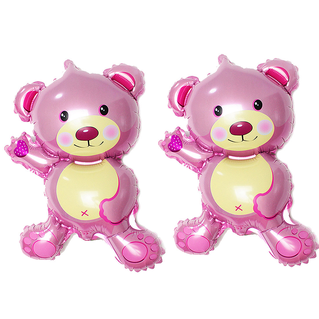 Birthday Festival Foil Cartoon Decoration Bear Balloon Pink 2 PCS