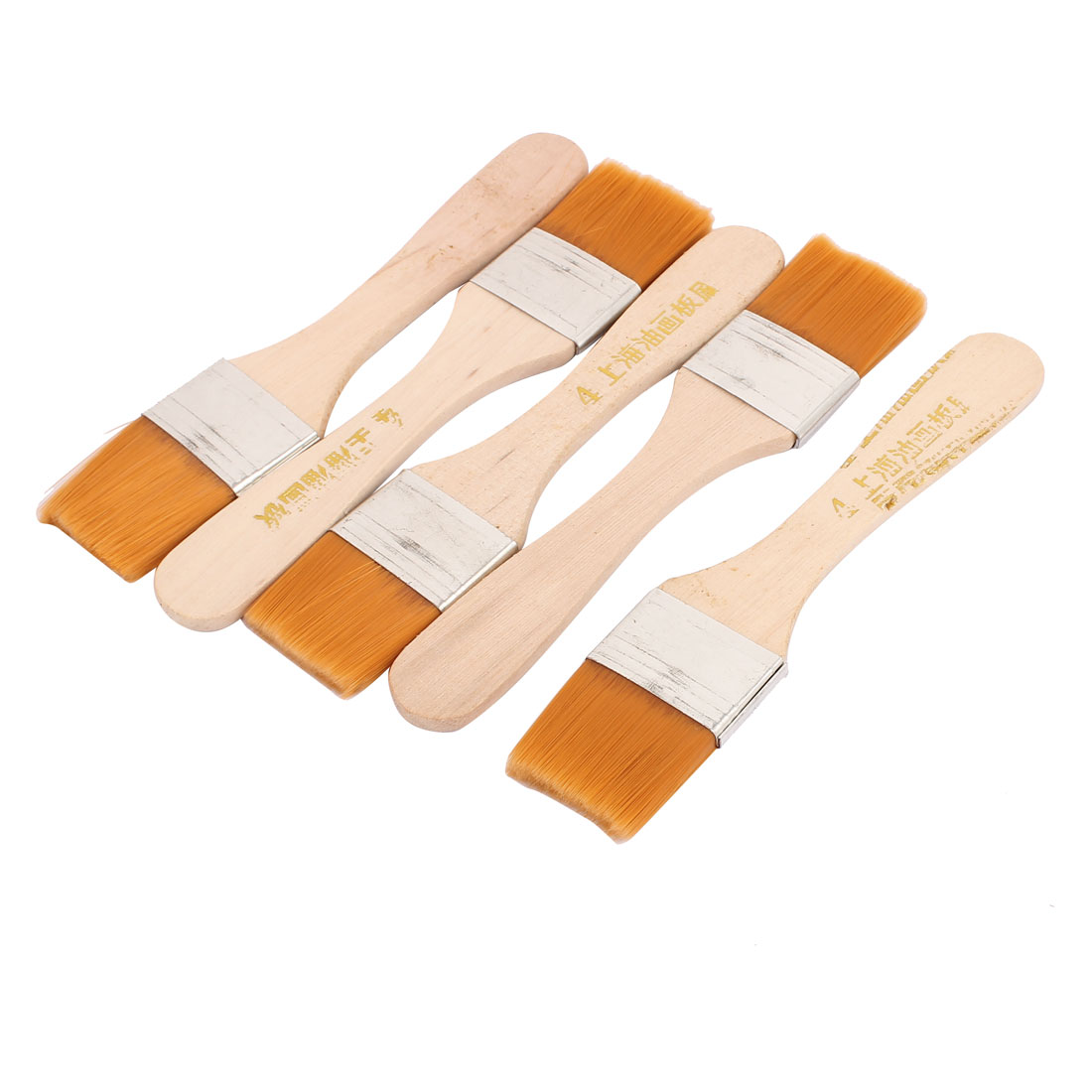Painter Artists Wooden Handle Oil Painting Paint Drawing Brush Tool 5 Pcs