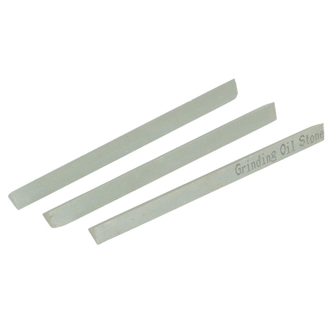 150mm x 13mm x 11mm 600 Grit Oil Stone Sticks Sharpener Green 3 Pcs