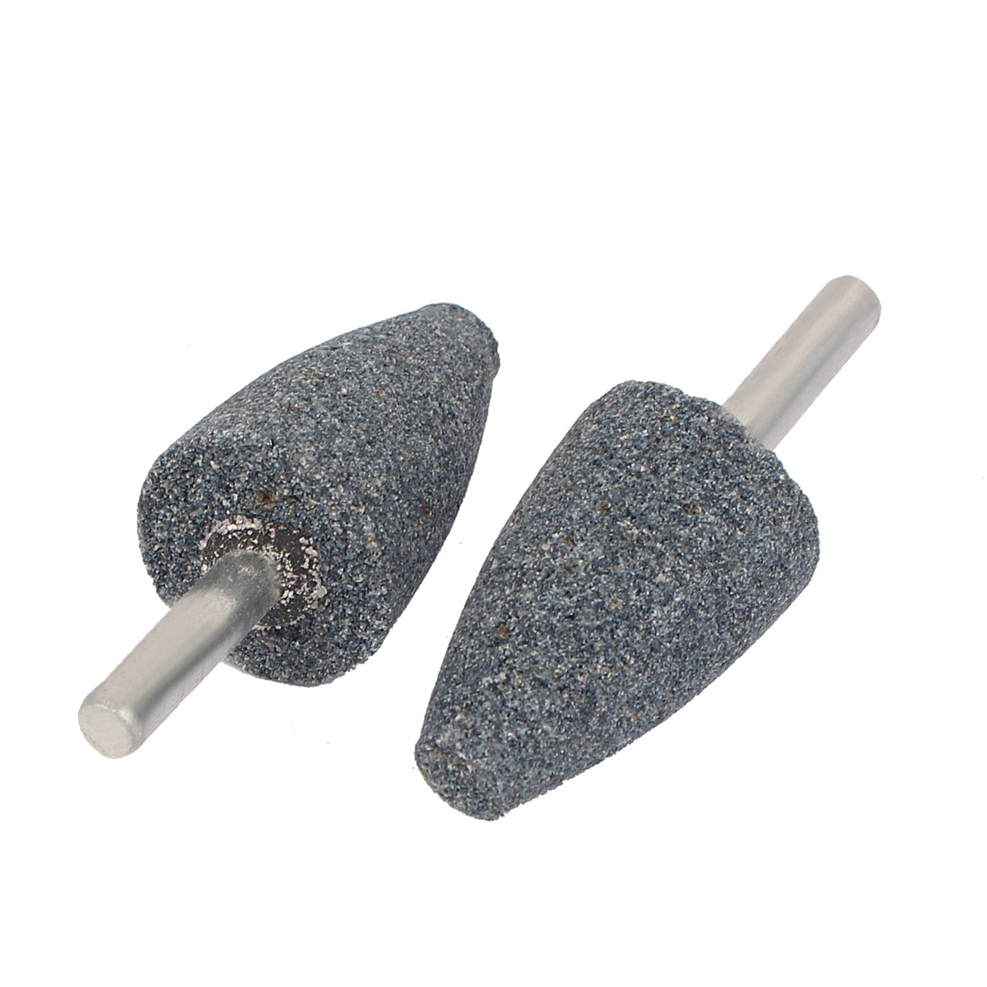2 Pcs 24mm Dia Tapered Head Grinding Bit Polisher Mounted Points Gray