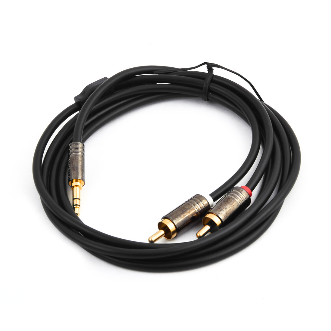 3.5mm Male to 2 RCA Male Adapter Audio Stereo Cable 4.9Ft Long for Laptop
