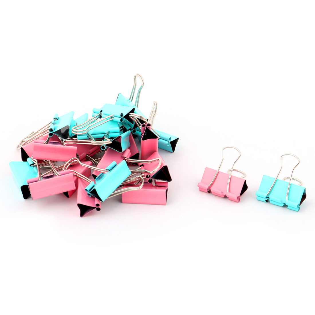 Office Company Metal Document File Organizer Paper Binder Clips 24 Pcs