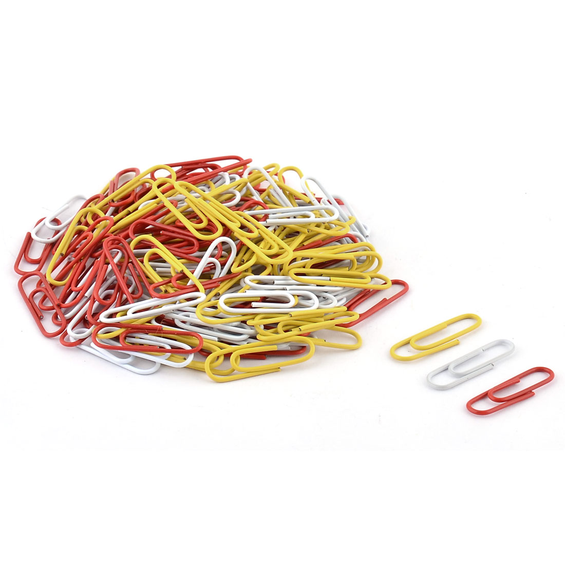 Office Plastic Coated Note Memo Ticket Binder Paper Clip Clamps Tricolor 135 Pcs