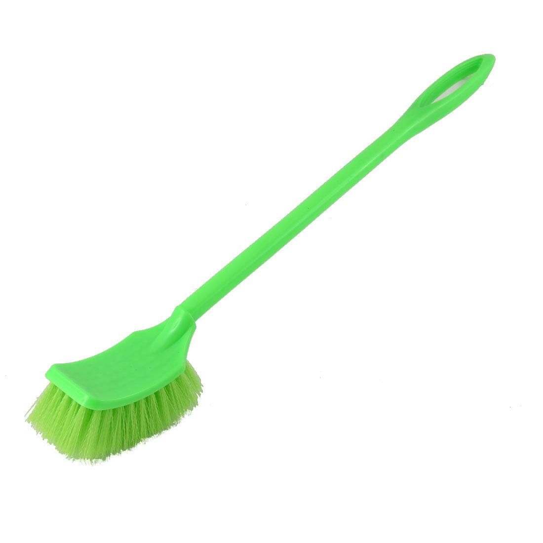 Bathroom Cleaning Plastic Handle Nylon Bristle Toilet Brush Light Green