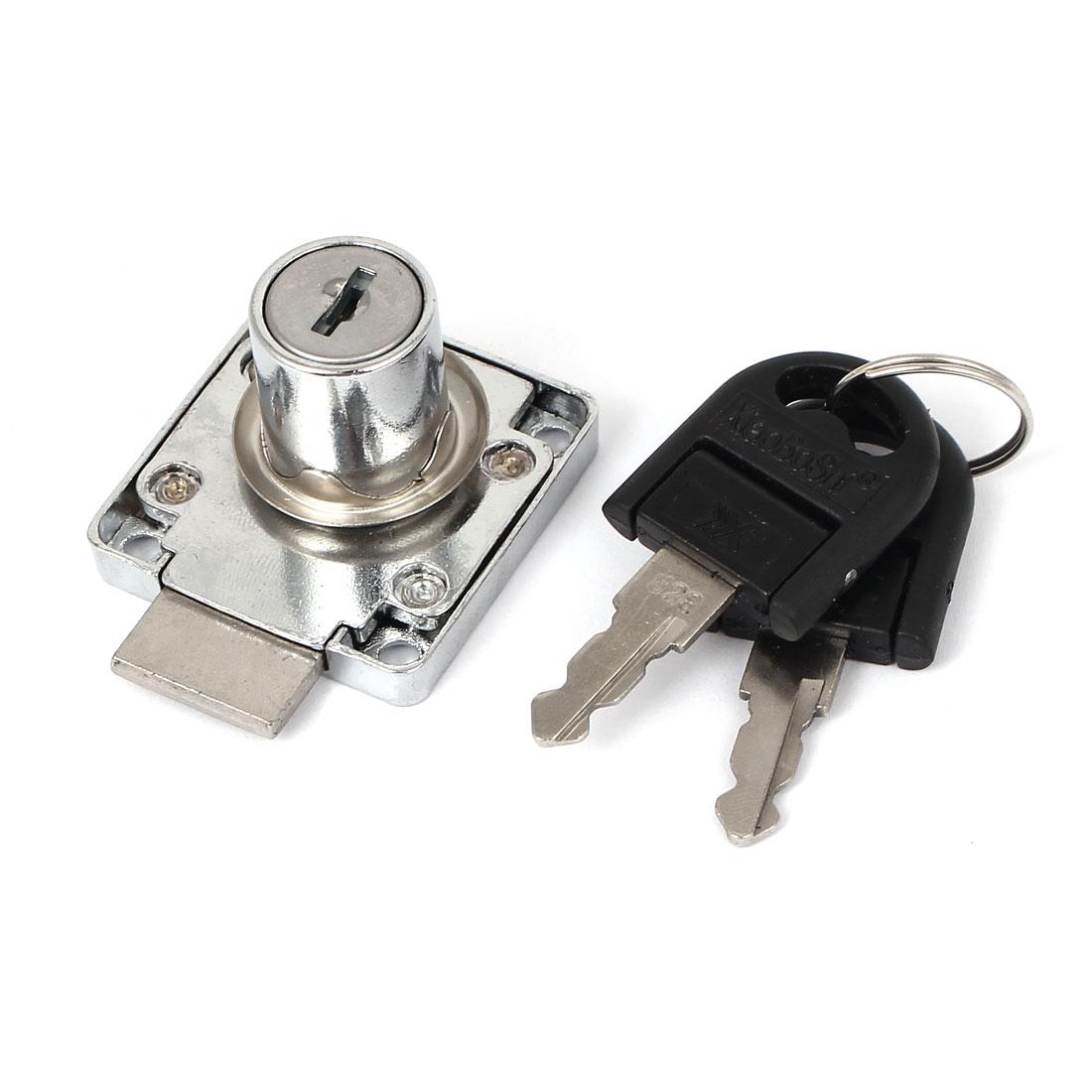 19mm Dia Cylinder Deadbolt Table Drawer Cabinet Security Key Lock Locker