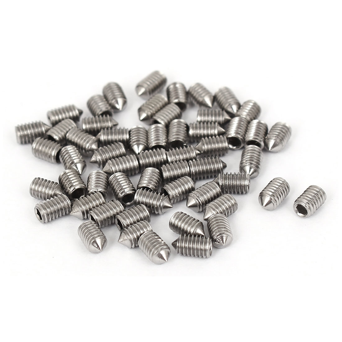 3mm Thread Cone Point Head Socket Hex Set Grub Screws 5mm Length 50 Pcs