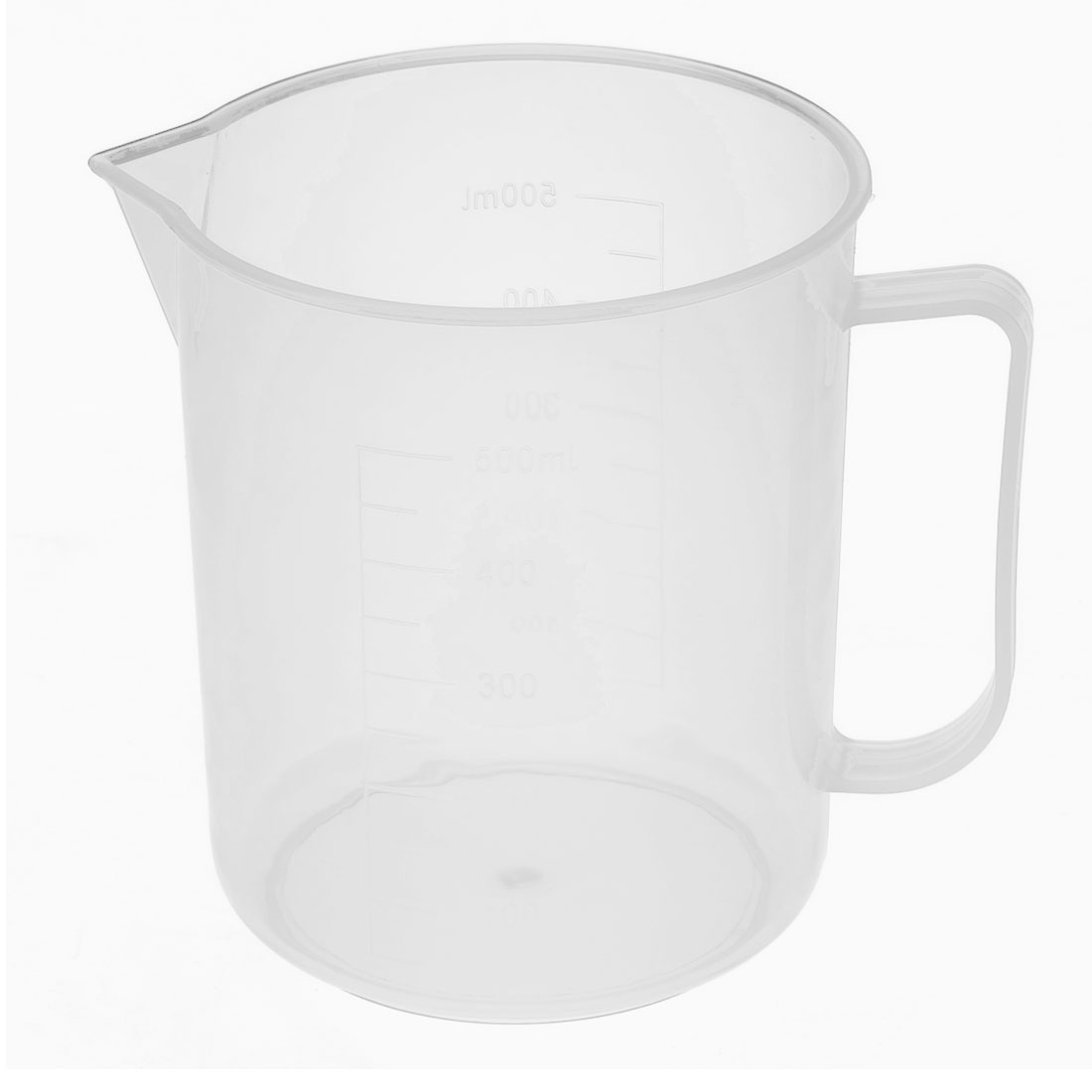 Kitchen Laboratory Environmentally Plastic Measuring Cup Clear 500ml Capacity
