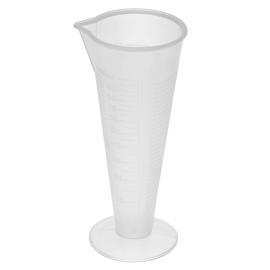 Kitchen Laboratory Plastic Cylindrical Shape Measuring Cup Clear 100ml Capacity