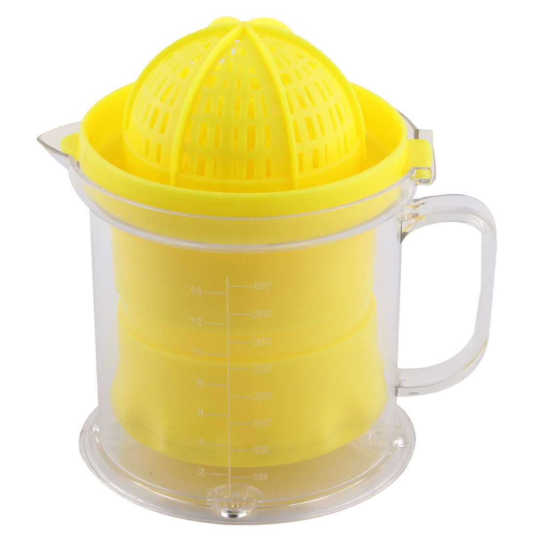 Household Multipurpose Plastic Dome Lid Manual Citrus Juicer 400ml Capacity