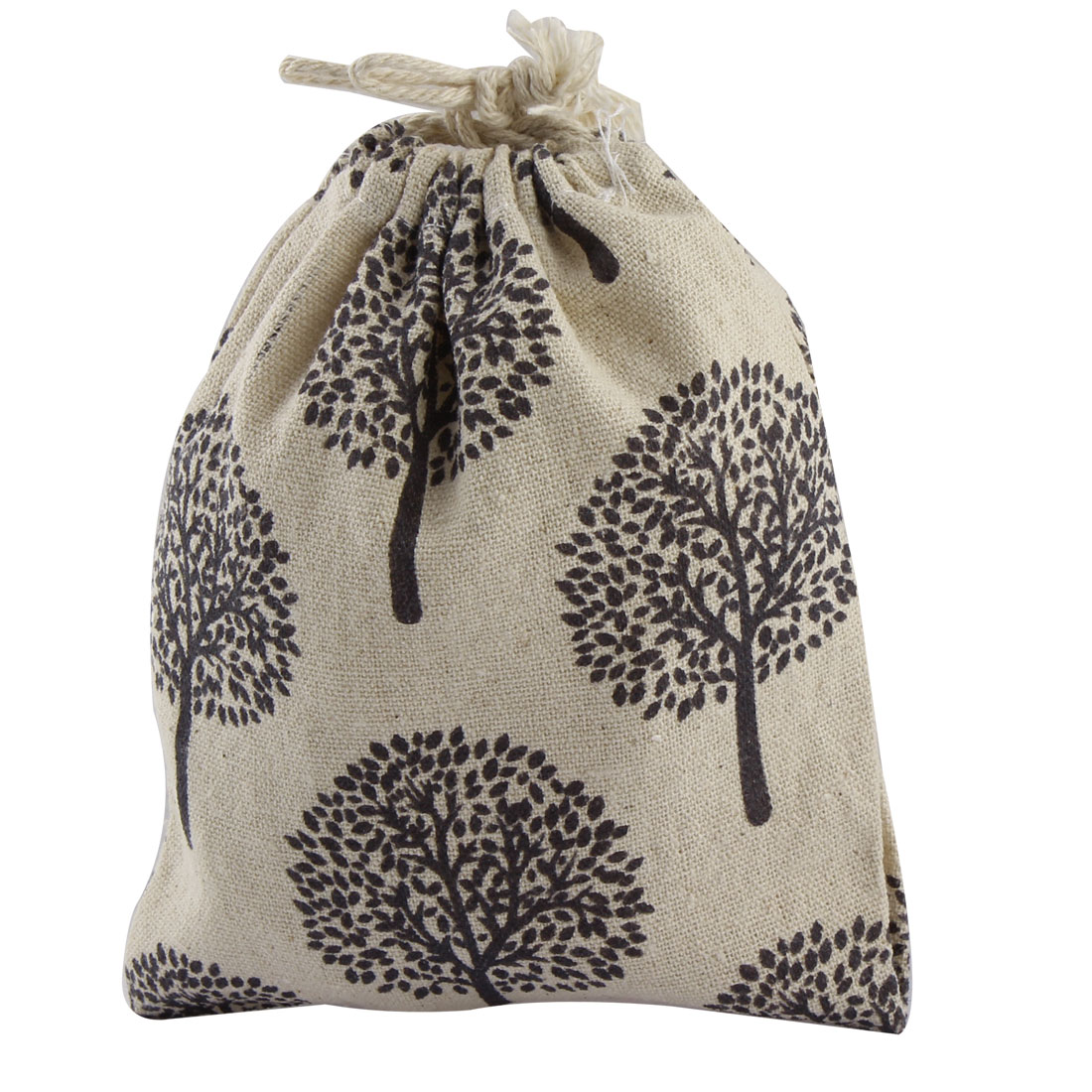 Home Cotton Blend Retro Style Tree Pattern Clothes Socks Drawstring Pouch