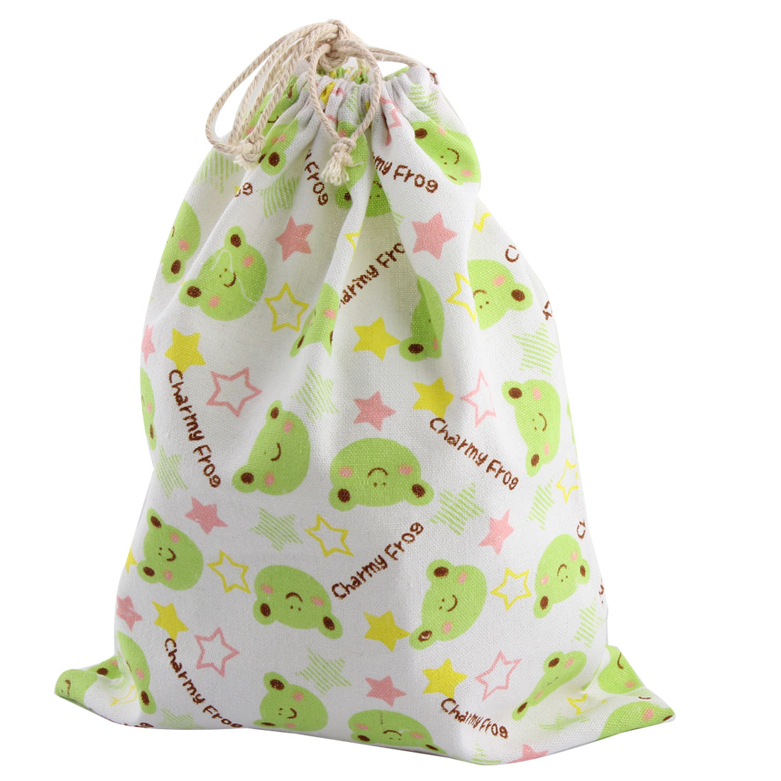 Household Linen Bag Frog Pattern Clothes Socks Storage Drawstring Pouch