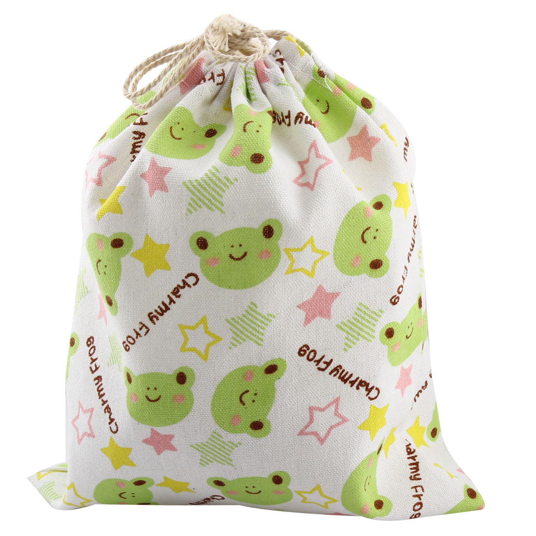 Outdoor Travel Cotton Blend Frog Pattern Clothes Socks Drawstring Pouch