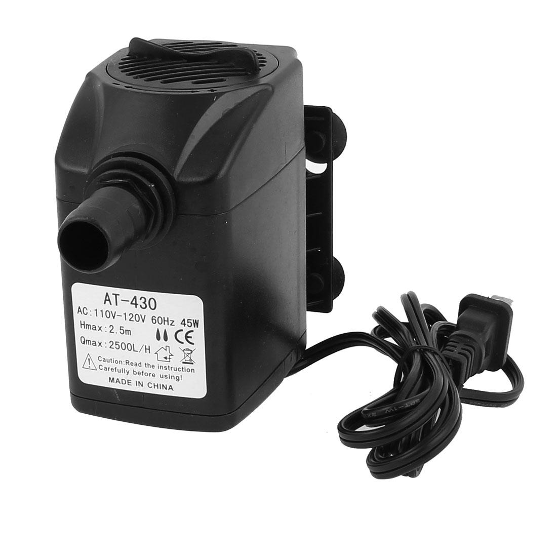 AC 110V US Plug 45W Electric Submersible Water Pump Aquarium Fountain