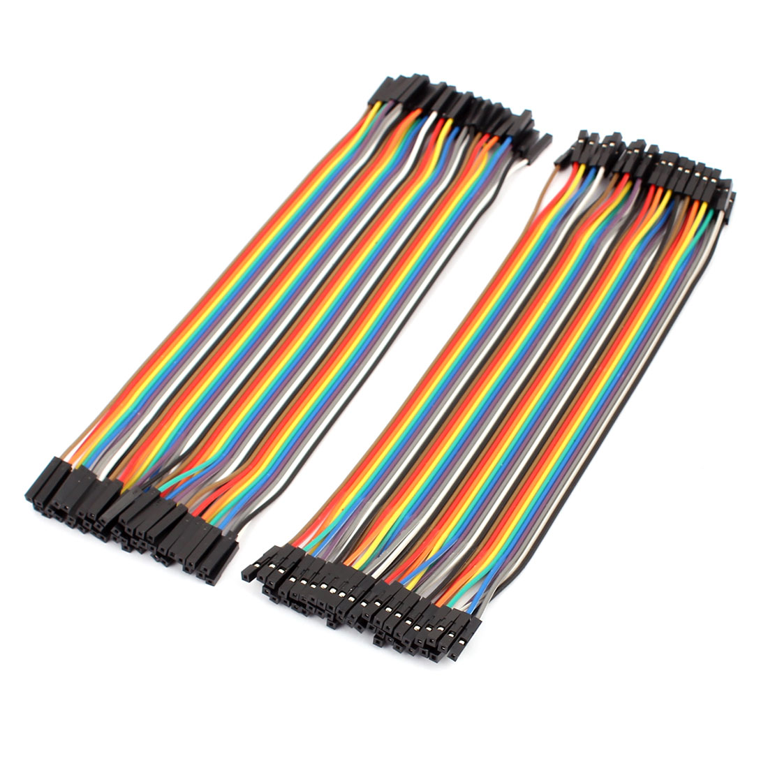 2PCS 2.0mm to 2.54mm Female Connector 40P Breadboard Double Head Jumper Wire Cable 20cm Length