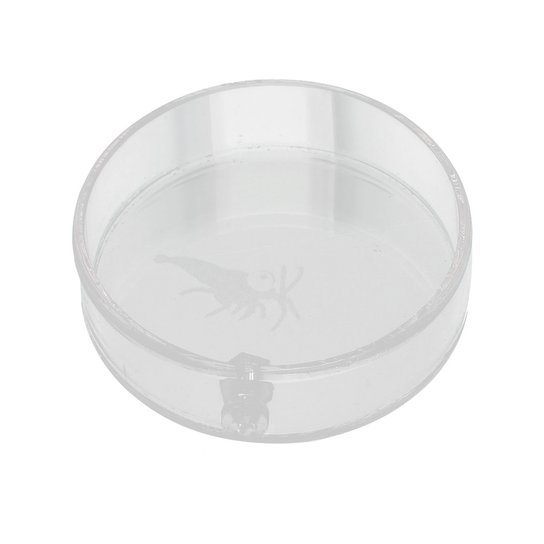 Aquarium Plastic Round Shaped Feeder Dish Plate Vessel Clear 6cm Dia for Shrimp