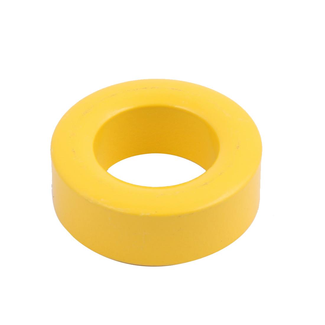 40mm x 23mm x 15mm Power Transformer Toroid Cores Ferrite Ring Magnet Yellow