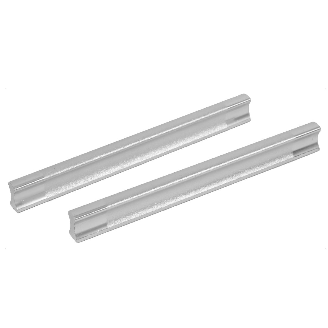 128mm Mount Distance Furniture Hardware Door Pull Handle Silver Tone 2pcs