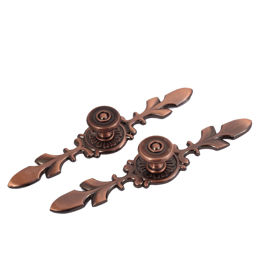 Wardrobe Drawer Dresser Pull Handle Copper Tone 2pcs