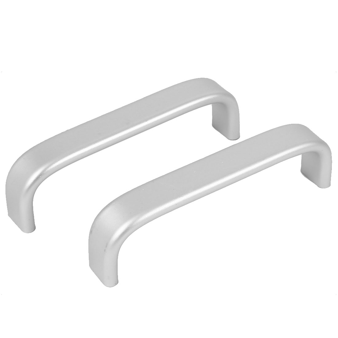 96mm Hole Spacing Doors Dresser Arch Style Pull Handle Silver Tone 2pcs