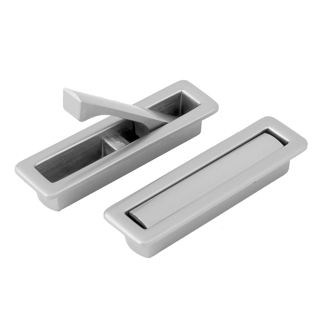 Cabinet Cupboard Drawer Dresser Rectangle Pull Handle 2pcs