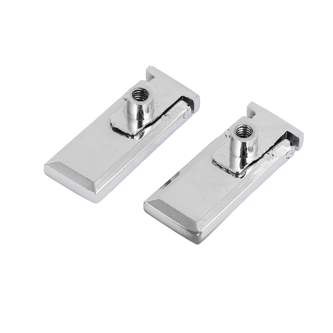 Cupboard Cabinet Drawer Dresser Rectangle Metal Pull Knob 37mm Length 2pcs