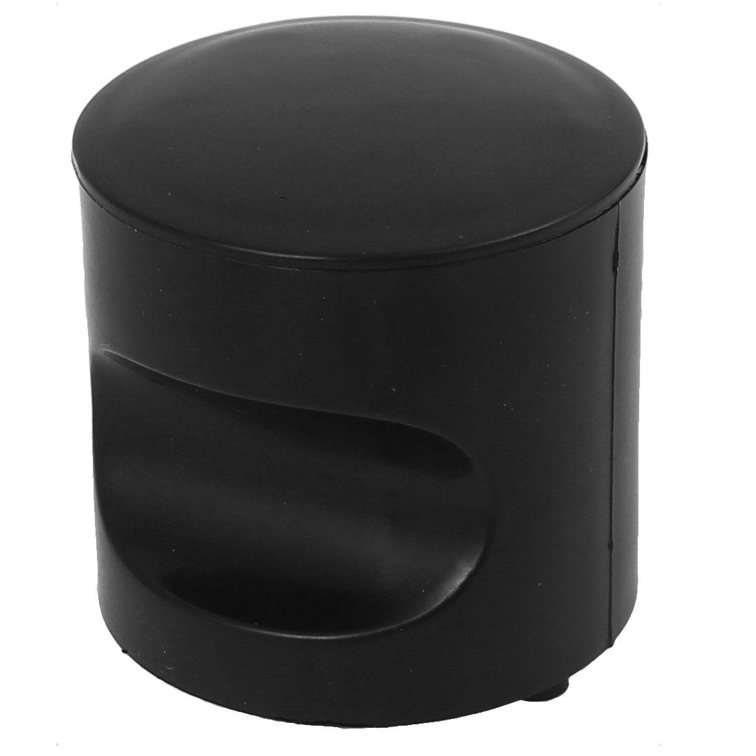 Bathroom Toilet Plastic Door Knob Pull Handle Grip Black