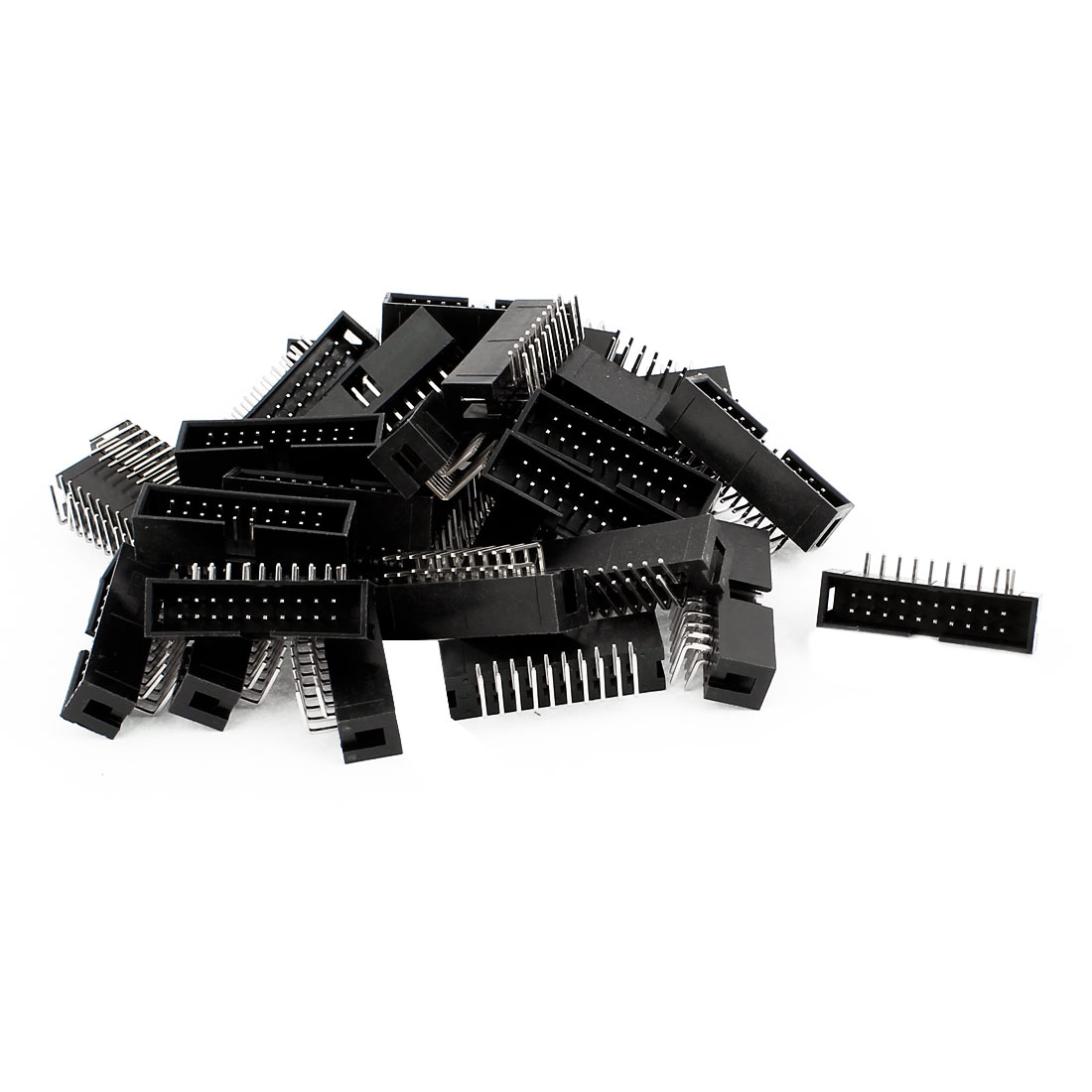 IDC Right Angled Box Header Connector 20 Way Pitch 2.54mm 31 Pcs