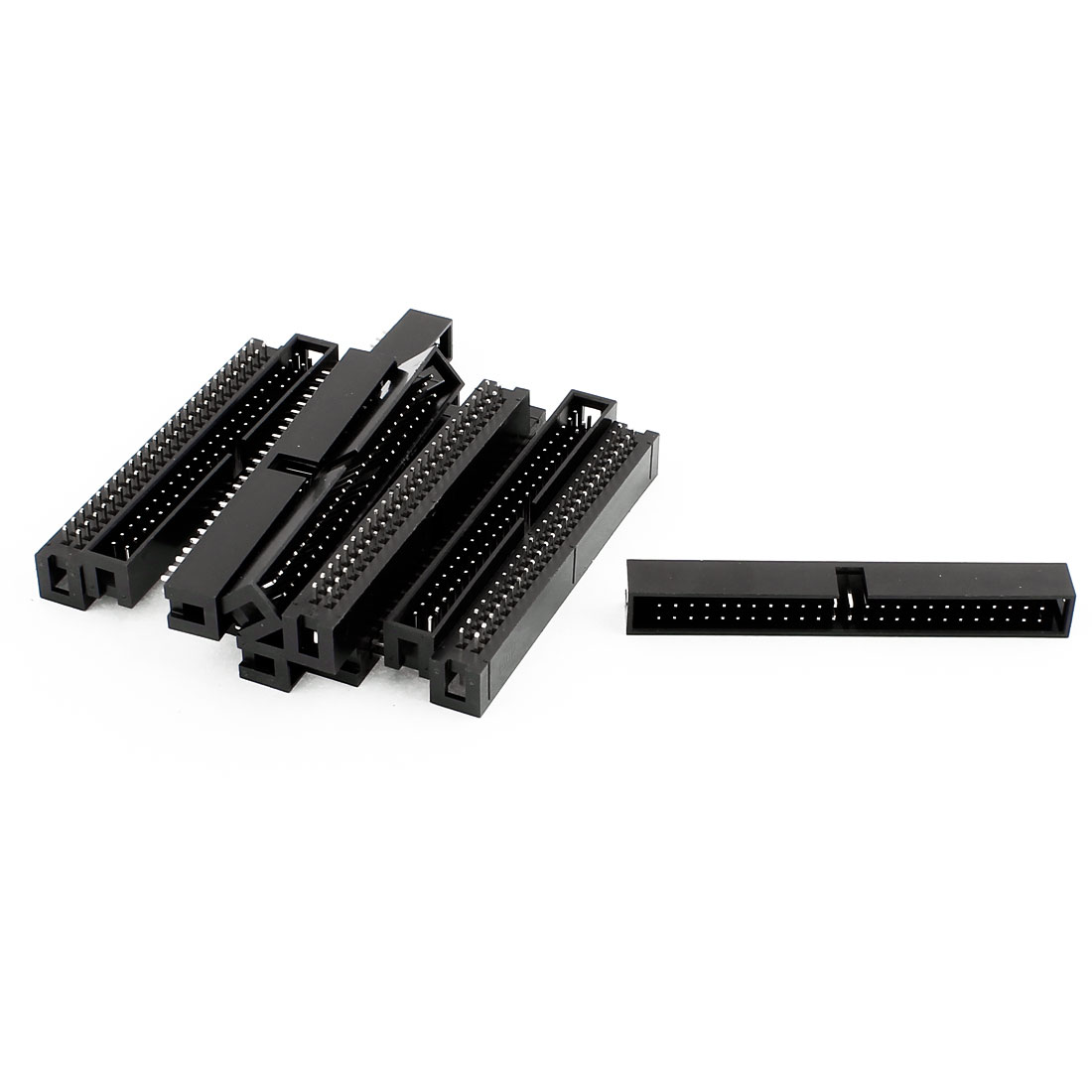12 Pcs 50-Pin Double Dual Row Box Header Connector Pitch 2.54mm