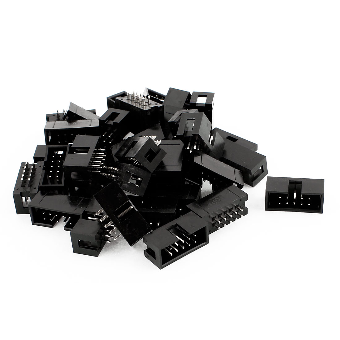 34 Pcs 10-Pin Double Dual Row Box Header Connector Pitch 2.54mm