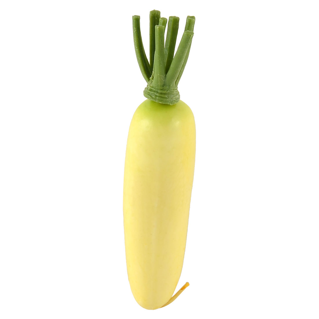 Artificial Vegetable Plastic Lifelike Decor Handmade Simulation Radish Yellow