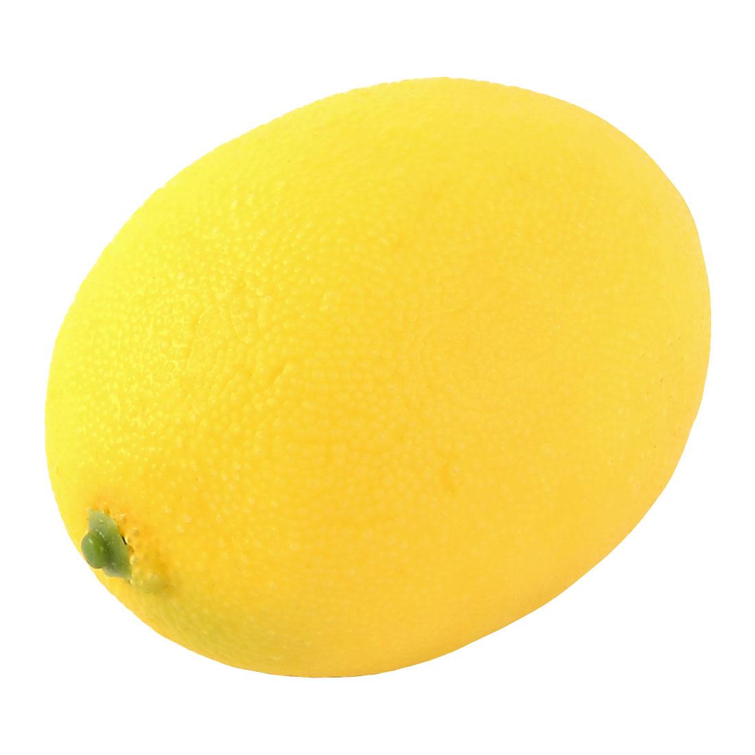 Artificial Fruit Plastic Lifelike Decoration Handmade Simulation Lemon Yellow