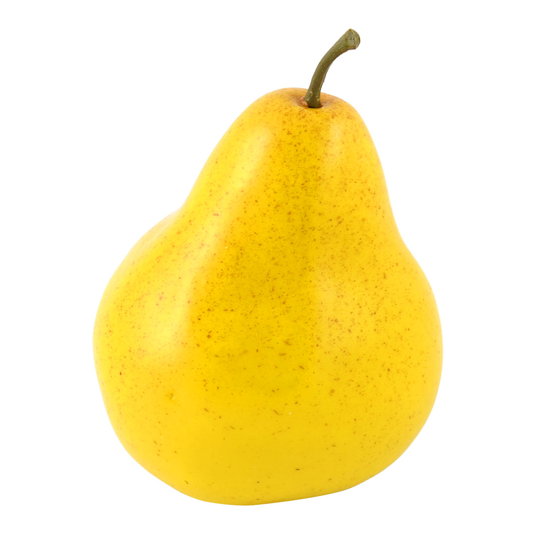 Artificial Fruit Foam Lifelike Decoration Handmade Simulation Pear Yellow