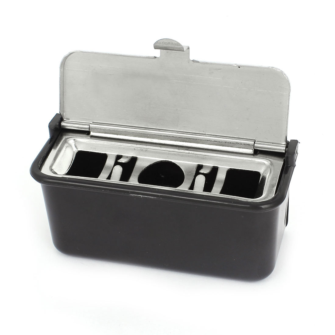 Black Silver Tone Portable Car Auto Travel Ashtray Cigarette Ash Holder Cup