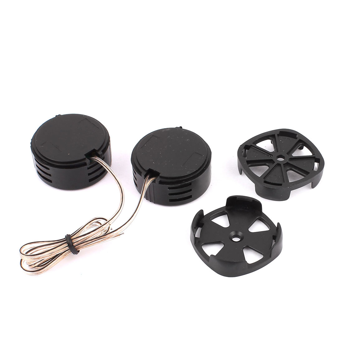 2pcs Plastic Shell Audio Speaker Dome Tweeter 500W 97dB Black for Auto Car
