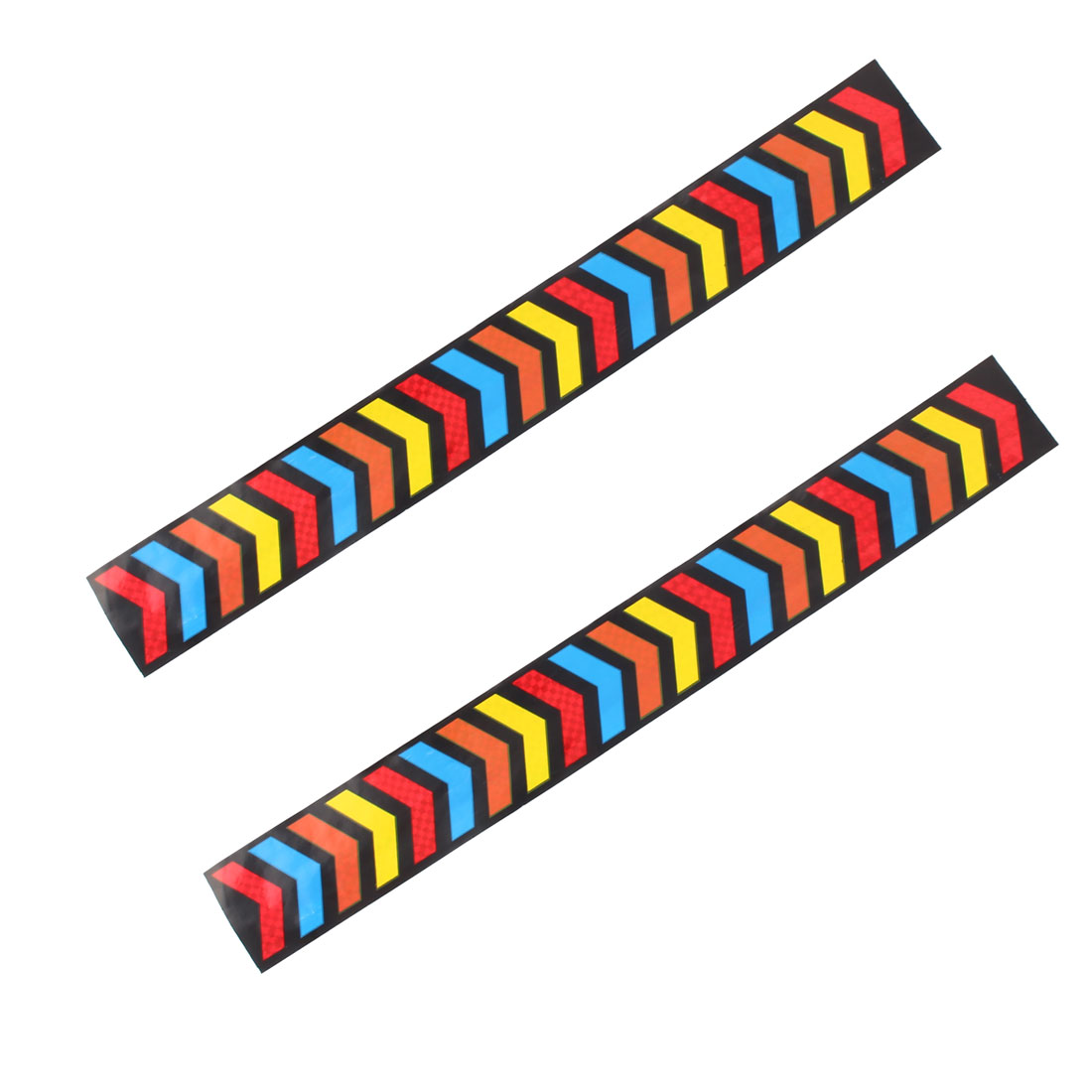 Car Bar Vehicle Stripe Pattern Reflective Stickers Decal Multicolor 2 Pcs