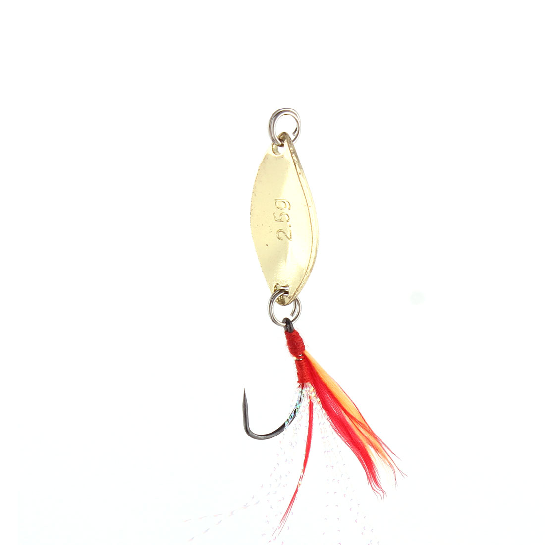 Outdoor Fishing Fish Angling Metal Reflective Barb Lure Hooks Gold Tone